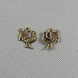30 PCS Jewelry Making Charms Findings Supply Supplies Crafting Lots Bulk Wholesale Antique Bronze Tone Plated 71564 Rooster Cock