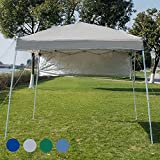 Sundale Outdoor 8 x 8 FT Heavy Duty Pop Up Canopy Waterproof UV-Protected Gazebo Portable Instant Shade Folding Shelter Patio Wedding Party Tent with Carrying Bag (Ginger)