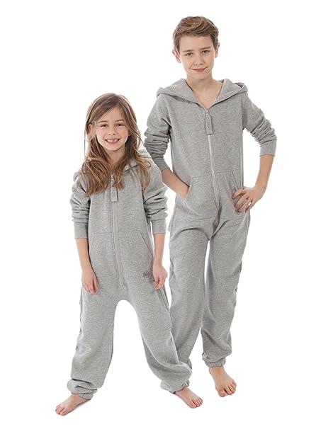 Zipups Mono-Pijama Kids Gris Jaspeado 4-5 años (104/110 cm