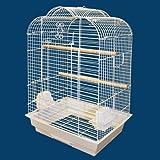 "Kahua Kabin Victorian Top Bird Cage - 18''W x 14''D x 28""H - White"
