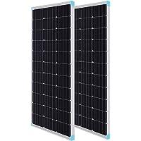 Renogy 2pcs 100 Watt 12 Volt Monocrystalline Solar Panel (Compact Design)