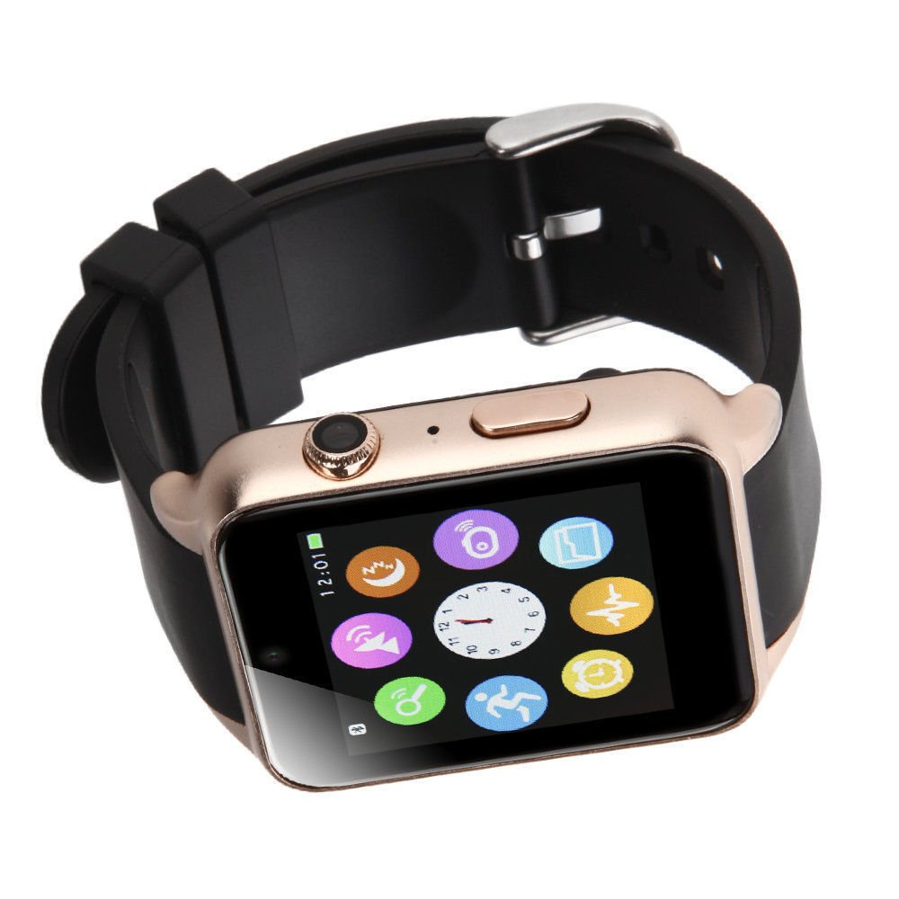 Amazon.com: SMFR Waterproof GT88 NFC Bluetooth Smart Watch Phone Mate For iphone Android Silver (gold): Cell Phones & Accessories