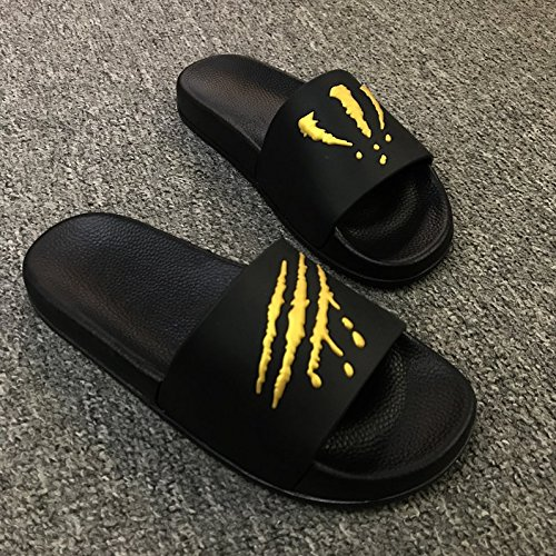 Home 43 Slippers Men The Black and Slippers Outside Bathroom Cool Trend Slip of fankou Inside Gold Non Summer Summer qzRxCSza