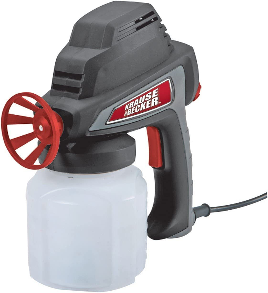 Krause & Becker 5 GPH Electric Paint Spray Gun with Durable 24 Oz. Polypropylene Paint Cup