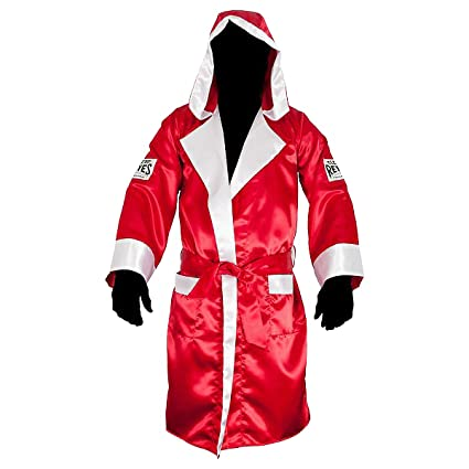 ec43a88eb5 Amazon.com   Cleto Reyes Satin Boxing Robe with Hood - Small - Red ...