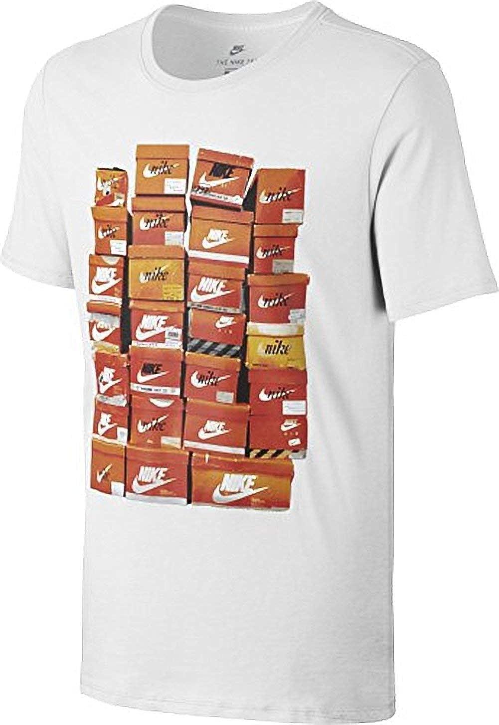 8f190f29a Amazon.com: NIKE Boys Sportswear Vintage Shoe Box T-Shirt (Small, Grey):  Sports & Outdoors