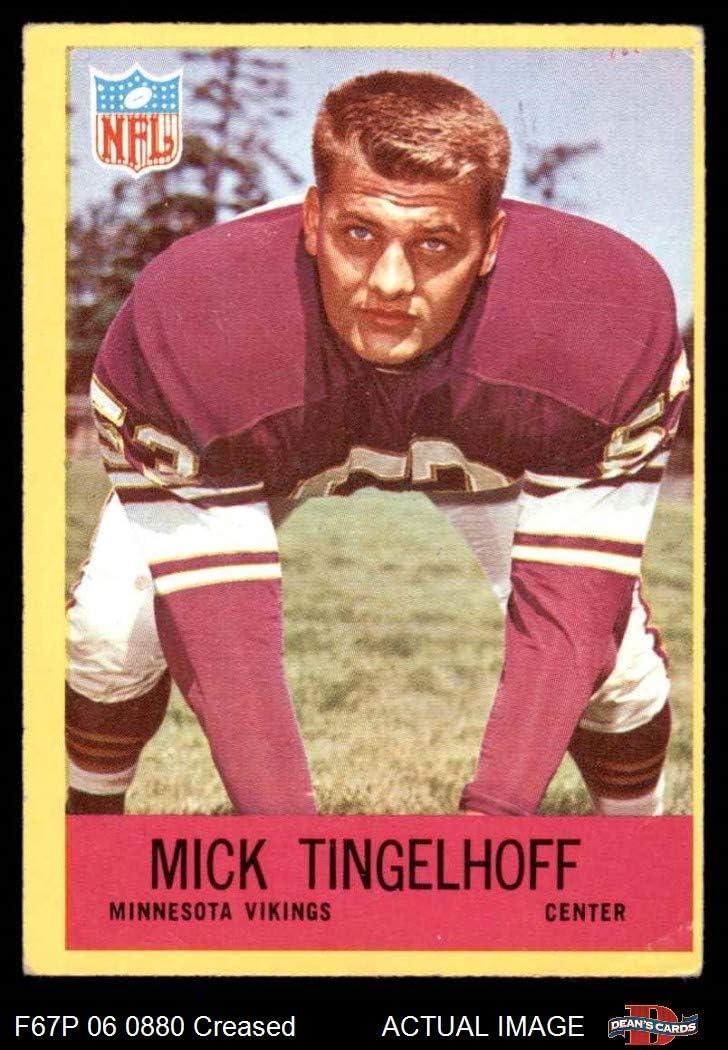 1967 Philadelphia # 107 Mick Tingelhoff Minnesota Vikings Deans Cards 3 Football Card VG Vikings