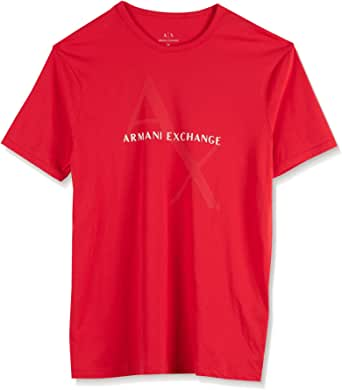 Armani Exchange Short Sleeve T-Shirts for Men, Size XXL, Red