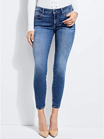 Amazon Com Guess Sexy Curve Pantalones Vaqueros De Mediana Talla Para Mujer Clothing