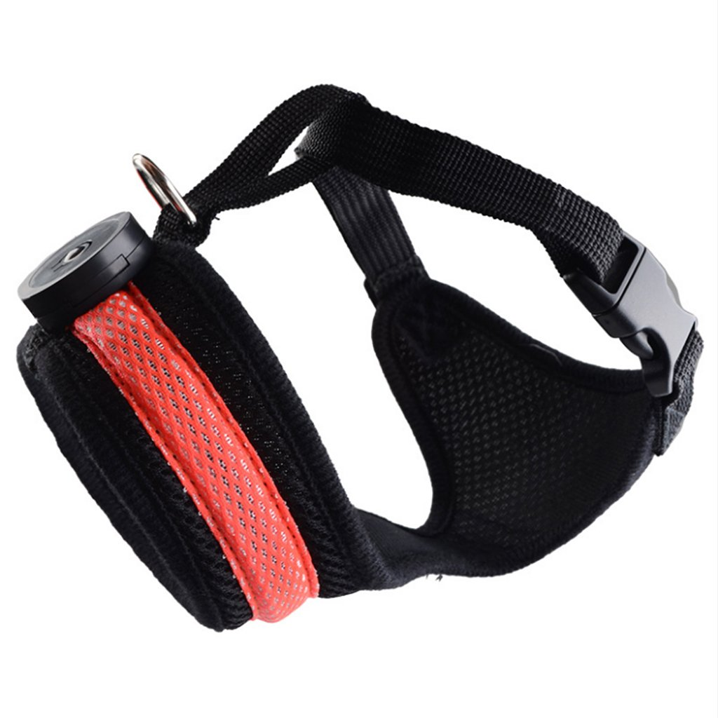 Red M Red M IFOYO LED Dog Harness, Medium Dog Harness with Light Adjustable LED Soft Breathable Mesh Dog Training Harness for Medium Girls Boys Dogs, Red, M