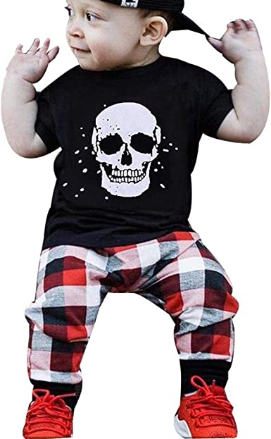 DIGOOD for 1-4 Years Old,Toddler Baby Boys Girls Leaves T-Shirt+Shorts,Children 2Pcs Outfits Summer Clothes Sets