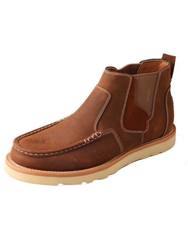 Twisted X Men's Casual Pull-On Shoes Moc Toe Brown 7 EE US