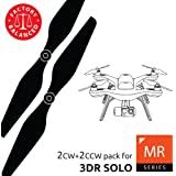 3dr Solo Propellers Upgrade Set Black - x4 propellers