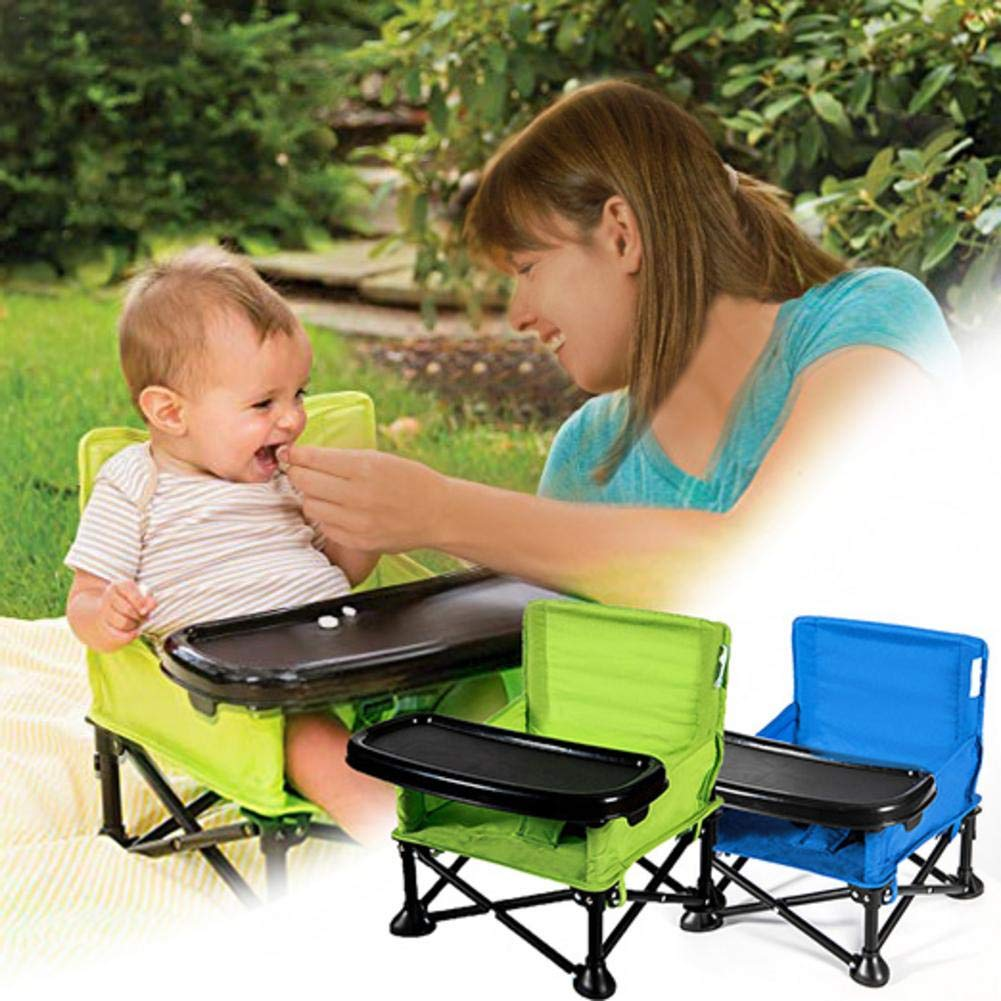 Hetesupply Multifunctional Child Seat Eating Learning Chair Folding Children Can Sit Reclining Children Portable Dining Table Travel Booster Seat with Tray for Baby