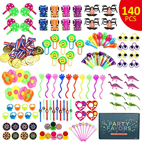 Zoneyee Party Prize,Party Favor for Kids Toy Assortment, 140Pcs Treasure Box Prizes for Classroom,Birthday Party, Kids Birthday Party Favors for Goodie Bag Fillers, Assorted Pinata - Assorted Set File