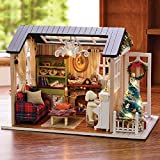 Kisoy Domantic and Cute Dollhouse Miniature DIY House Kit Creative Room Perfect DIY Gift for Friends,Lovers and Families(Sunny Holiday Time)