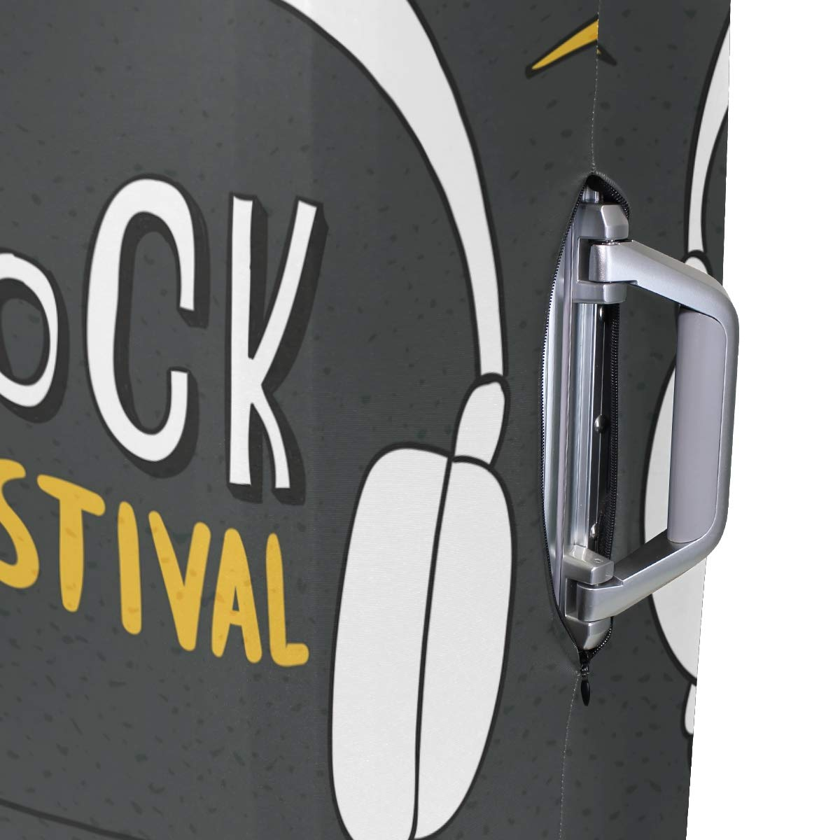 Baggage Covers Rock Festival Headphones Grey Washable Protective Case
