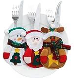 West See 3pcs oder 6pcs Besteckhalterset Bestecktasche Weihnachten Besteckhalter Besteckbeutel Weihnachtsdeko Tische Accessoires (6 Sets)