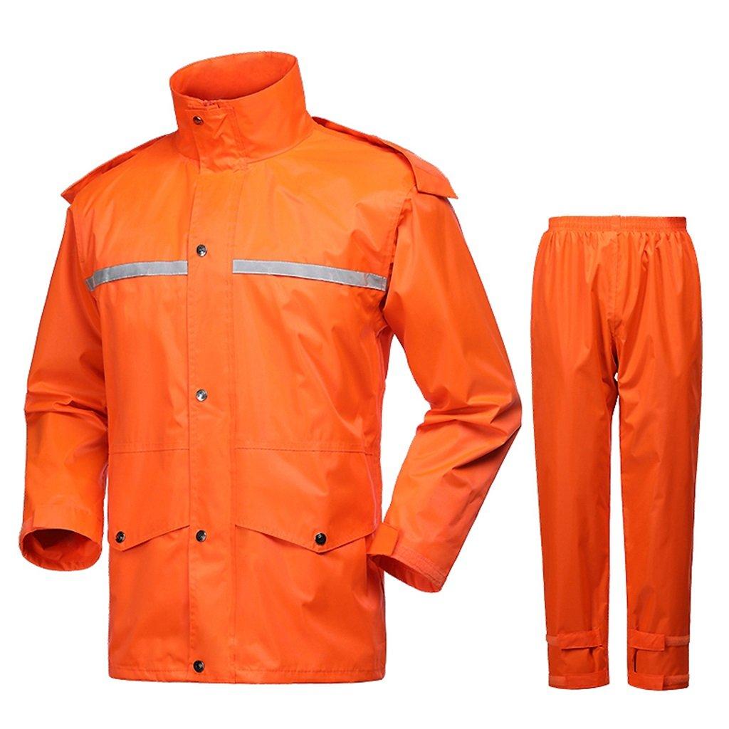 Orange grand KLEDDP Imperméable Costume Hommes et Femmes imperméable extérieur imperméable à Capuche Coupe-Vent réutilisable Poncho de Pluie imperméable (Couleur   Orange, Taille   XXXXL)