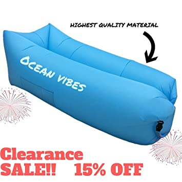 Inflatable Lounger Couch With Pocket - Portable Blow Up Lounge Chair - Pool Air Lounger -  sc 1 st  Amazon.com & Amazon.com : Inflatable Lounger Couch With Pocket - Portable Blow Up ...