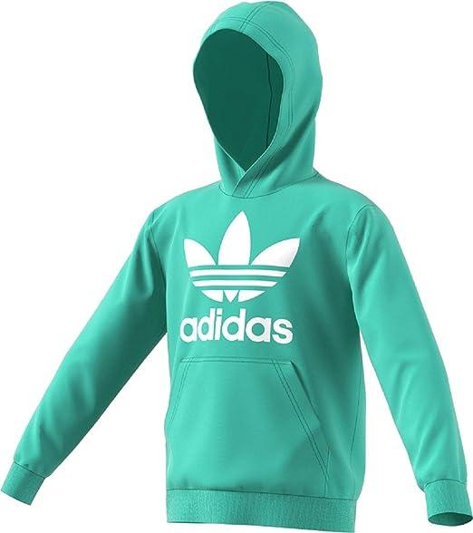 e7b28b00b adidas Originals Kids Unisex Trefoil Hoodie (Little Kids/Big Kids) Easy  Green/White X-Large: Amazon.co.uk: Clothing
