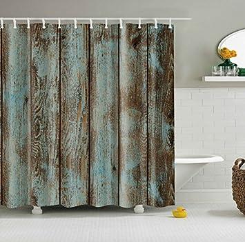 Buy Generic Old Wood Door Design Shower Curtain Waterproof Polyester