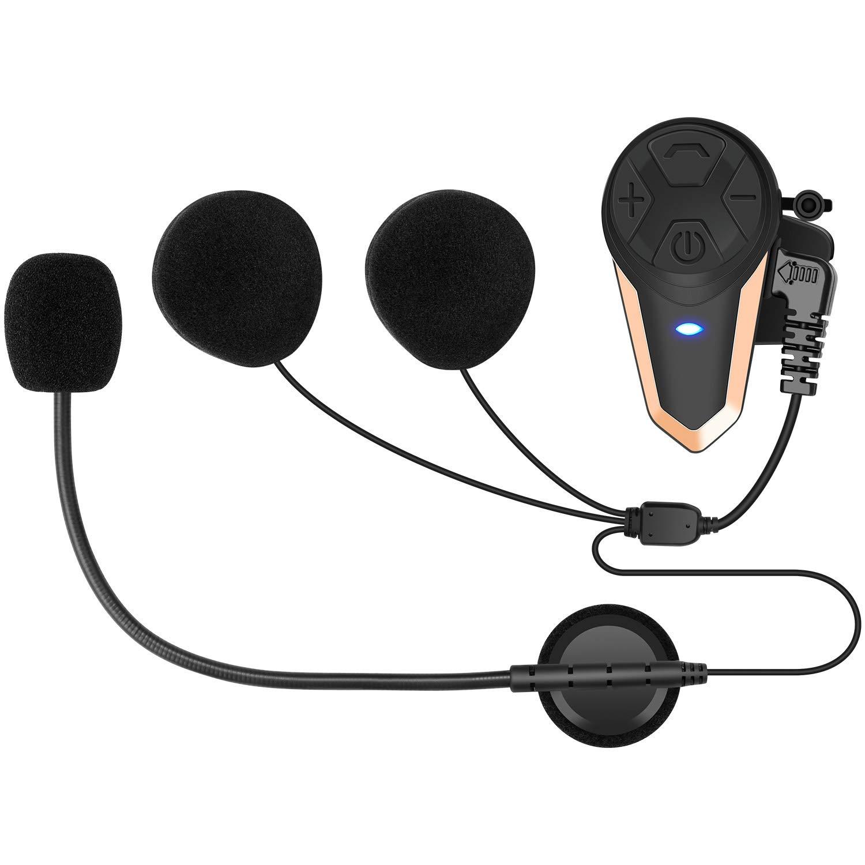 Doppio Oro /… BETOWEY Interfono Moto Bluetooth Coppia BT-S3 Auricolari Casco Moto Cuffie Senza Fili con Microfoni Pilota Passeggero