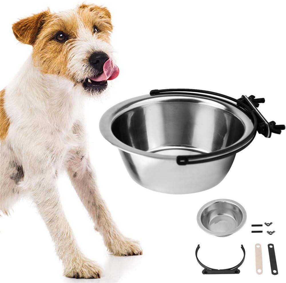 qingqingxiaowu Comedero Gato Comedero Perro Acero Inoxidable Platos y Cuencos para Perros Cuencos para Perros medianos Cuencos para Perros Antideslizantes 11cm