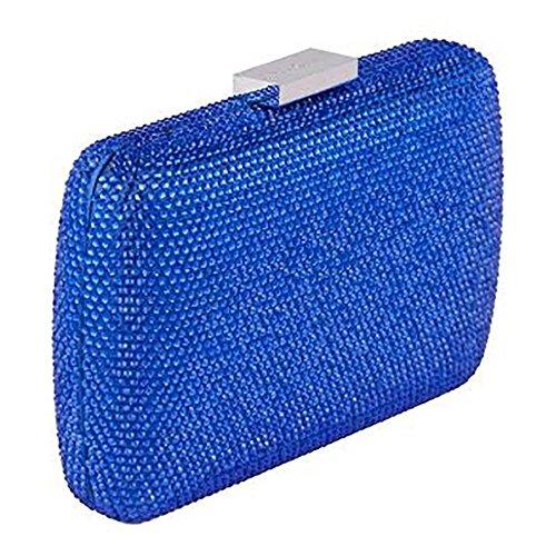 Borsa clutch, Everina Blu, in raso