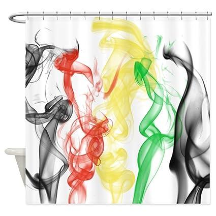 CafePress Rasta Smoke Jamaica Decorative Fabric Shower Curtain (69u0026quot ...