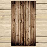 Custom Vintage Rustic Knotty Old Barn Wood Towels,Beach Bath Pool Sprot Travel Hand Spa Towel Size 30x56 inches