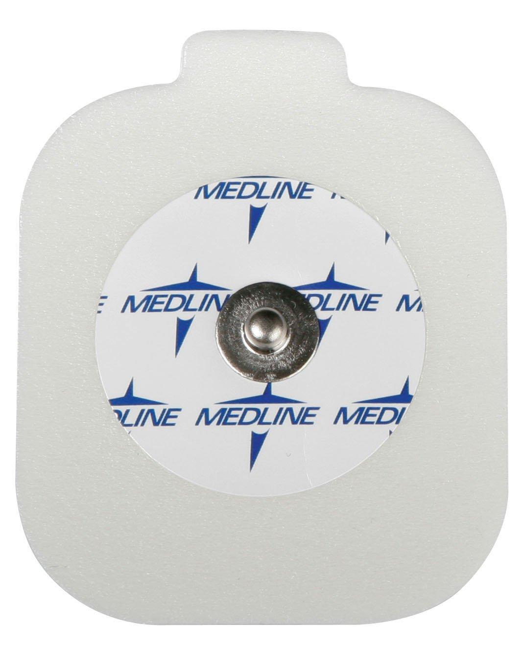 Medline MDSM611505CT MedGel General Monitoring Foam Electrodes, White (Container of 1000)