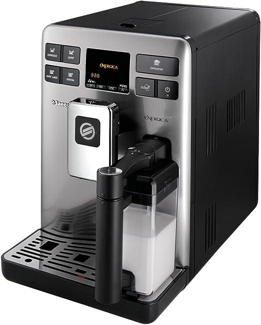 Saeco Energica HD8852/47 - Cafetera (Independiente, Máquina espresso, 1,5 L, Molinillo integrado, 1400 W, Acero inoxidable): Amazon.es: Hogar
