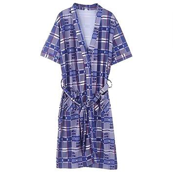 Albornoces ZHAOJING Pijamas de manga corta de verano de algodón para hombres de verano Pijamas de