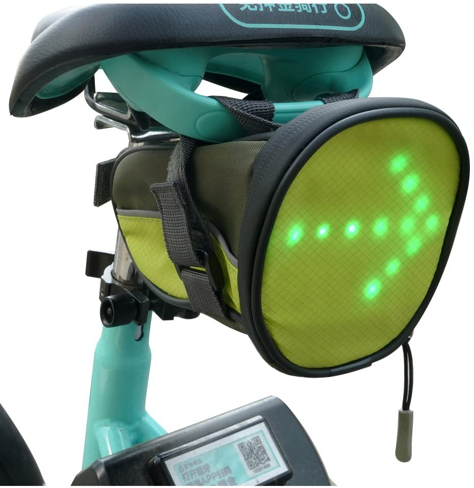 Turn Signal Bike Saddle Bag