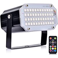 Luces de escenario dj light con control remoto luces para fiestas uces estroboscópicas activadas por sonido para fiestas…