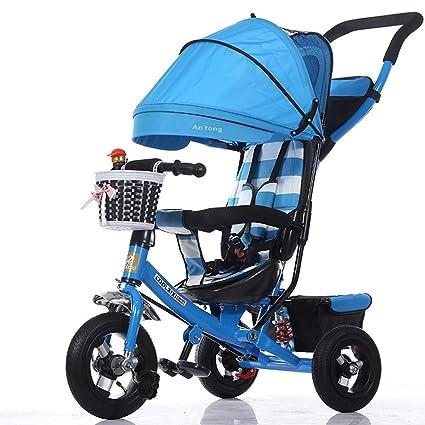 Triciclo para niños Coche plegable para niños pequeños ...
