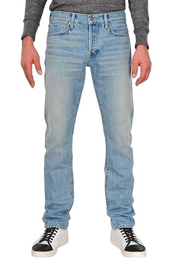 9d54989c0b3021 Tom Ford Pants Men 32 Light Blue/Jeans Slim Fit Slim Cut R: Amazon ...