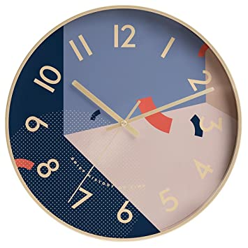 GUAZ Wanduhr Kreative Mode Kunst Wanduhr Moderne Einfache Uhr Stille Nicht Tickende  Uhr Wohnkultur Für