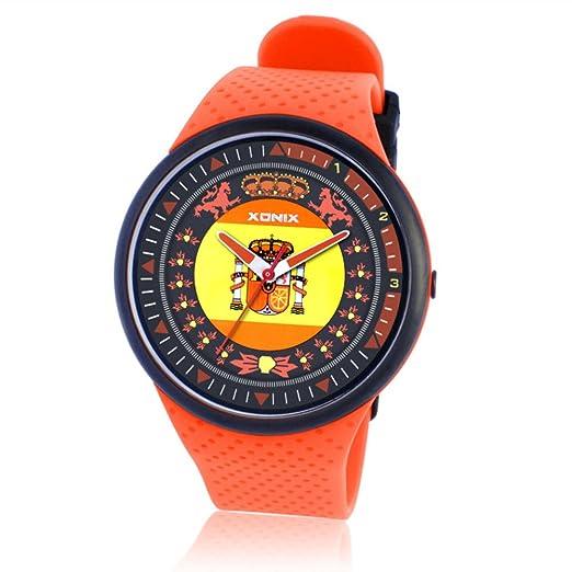 Negocio elegante y minimalista slim relojes para hombres y mujeres/ los amantes de relojes de cuarzo resistente al agua-A: Amazon.es: Relojes