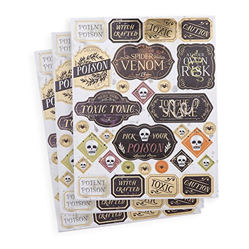 Martha Stewart Halloween Stickers with Foil Accents]()