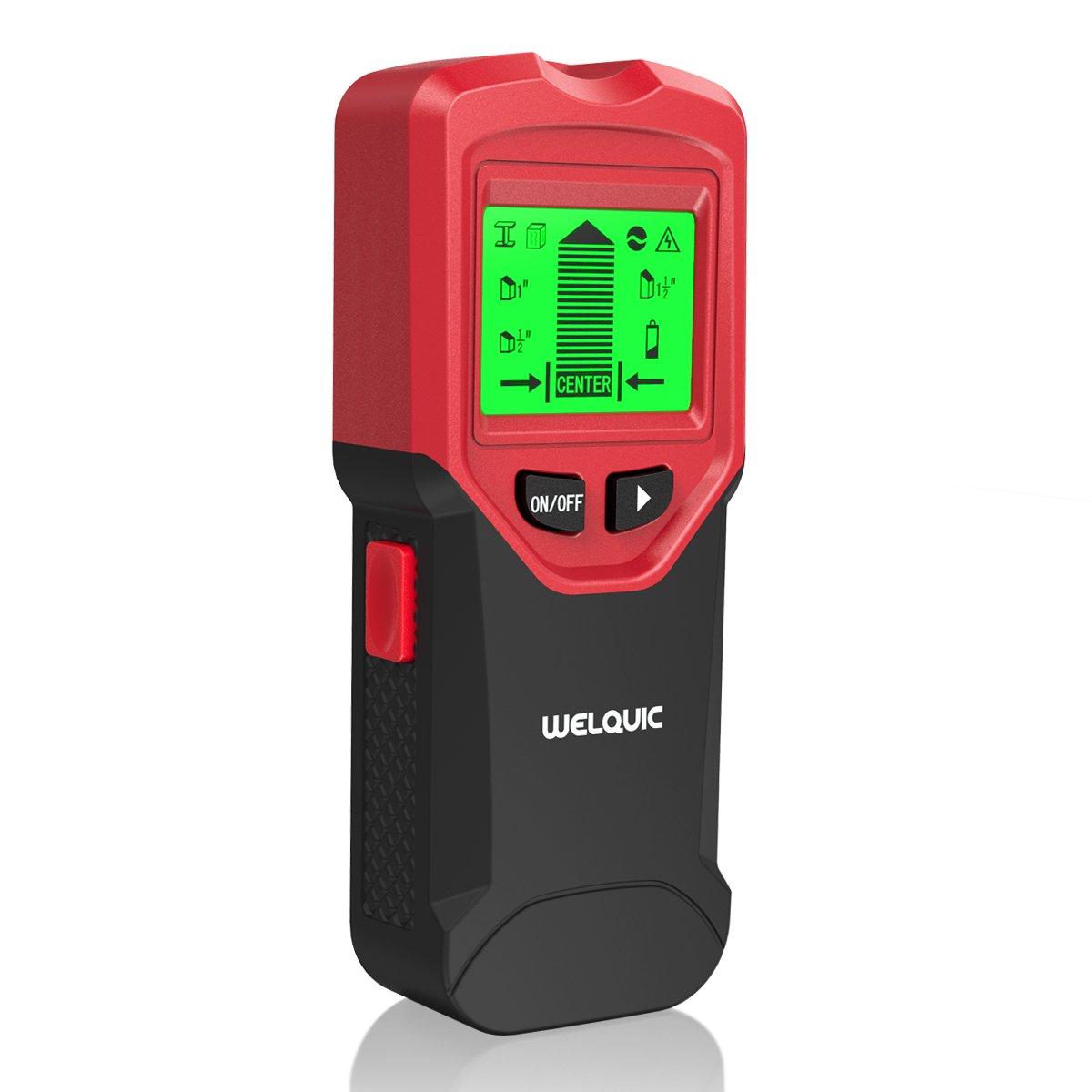WELQUIC Detector de Pared Multifuncional 3-en-1 Stud Finder con Calibración Automática,