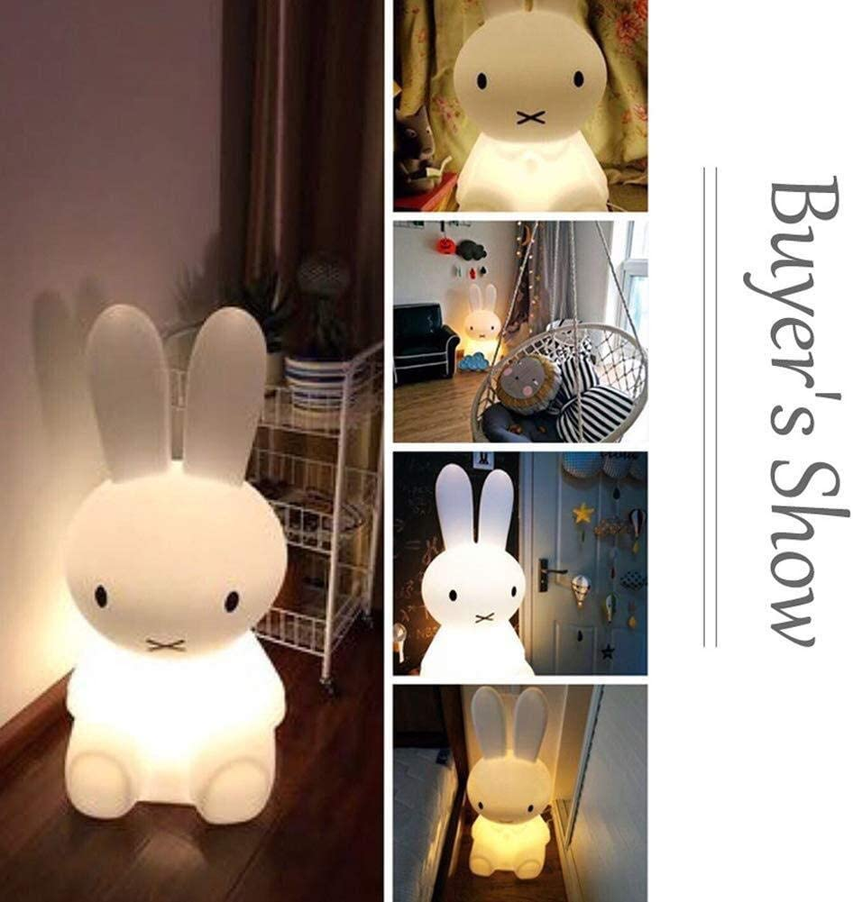 LED Night Light Bedside Sleeping Baby Cartoon Table lamp Decorative for Children Remote Control USB Girl Brown Bear Rabbit Miffy