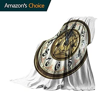 Amazon.com: Vanfan-home - Manta con diseño de reloj antiguo ...