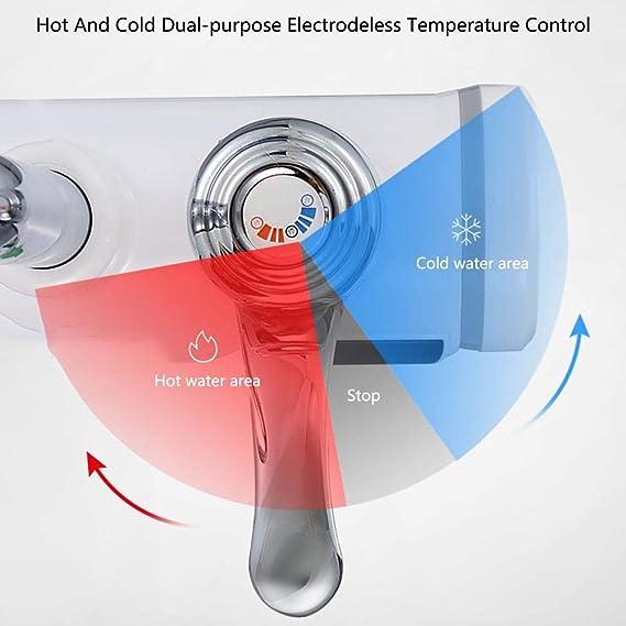Grifo el/éctrico de calefacci/ón instant/ánea Plateado cumple con el est/ándar europeo para la cocina o el ba/ño calientes y fr/íos