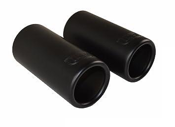 2 CARTUNER/® Auspuffblenden Auspuffblende Edelstahl schwarz matt Black Edition Endrohrblenden Endrohrblende Auspuff Blende Endrohre