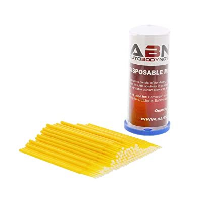 ABN Fine-Point Disposable Brush Applicator 100 Pack – for Lint-Free Detailing, Touchups, and More: Automotive [5Bkhe2012387]