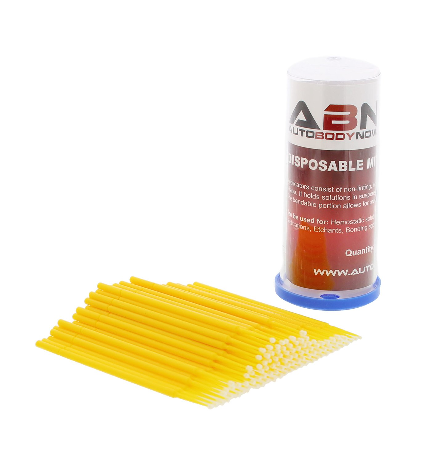 ABN Fine-Point Disposable Brush Applicator 100 Pack – for Lint-Free Detailing, Touchups, and More ABN4153