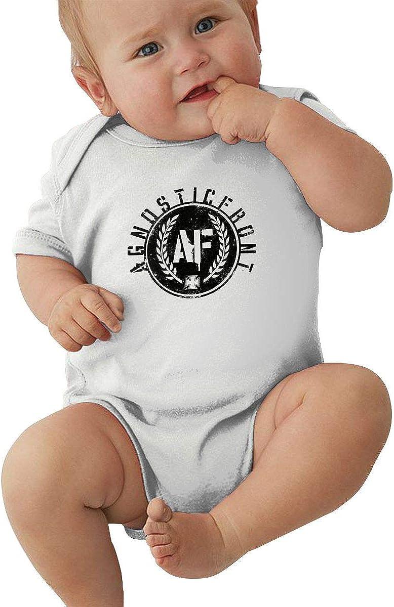 not Wenjienengcai Agnostic Front Logo Baby Bodysuit Unisex Short Sleeve 0-24 Months Jersey Bodysuit Cotton