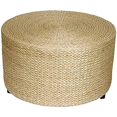 Coffee Table Ottoman.Oriental Furniture Rush Grass Coffee Table Ottoman Natural